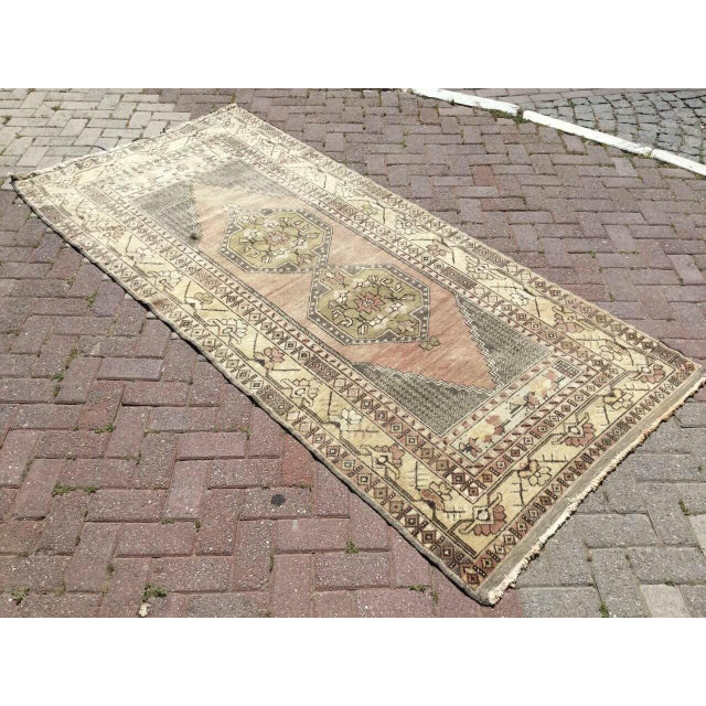 One of a kind hand made Oushak rug. This gorgeous hand knotted area rug is made in 1940's by anatolian tribes. Collectible...