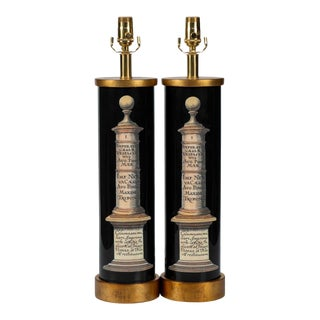 """Classic """"Column"""" Lamps - a Pair For Sale"""