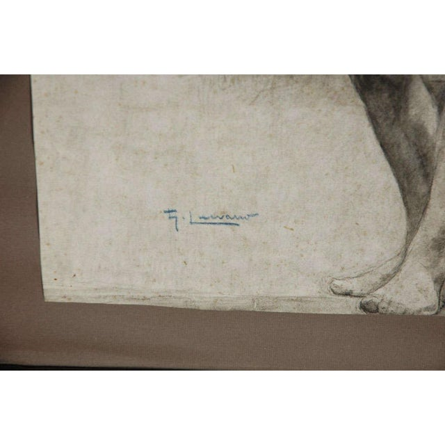 Pair of Charcoal Italian Male Nude Drawings From 1880 For Sale In Los Angeles - Image 6 of 10