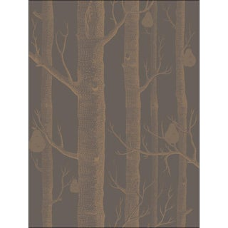 Cole and Son Woods and Pear Wallpaper in Bronze/Black For Sale