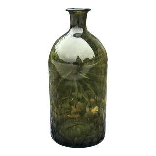 Green Medicine Bottle - Large For Sale