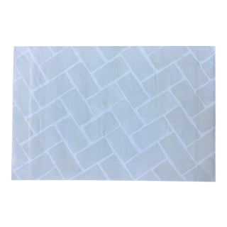 Grey & White Tile Backsplash Canvas Rug -- 2' X 3' For Sale