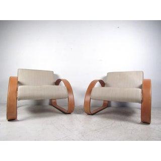 Armani Casa Modern Italian Lounge Chairs - A Pair Preview