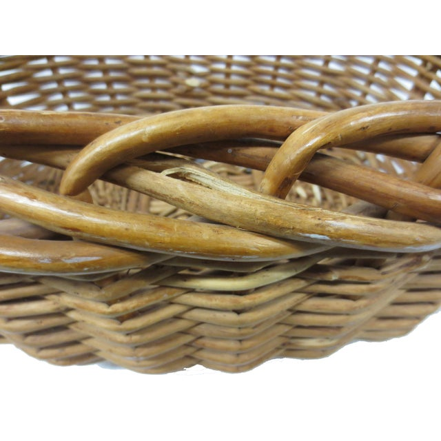Giant Oversize Braided Willow Basket - Image 8 of 9
