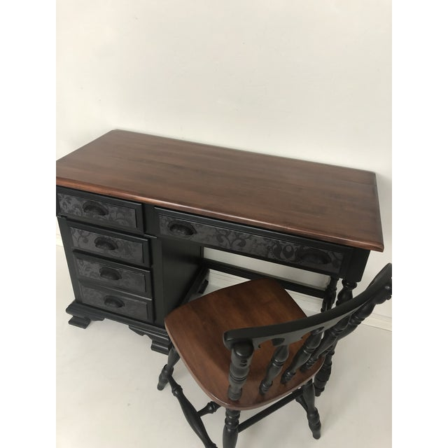 1950s Vintage Desk and Chair - Set of 2 For Sale - Image 5 of 13