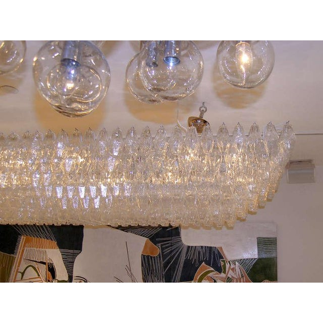Modern Venini Clear Glass Polyhedral Chandelier For Sale - Image 3 of 5