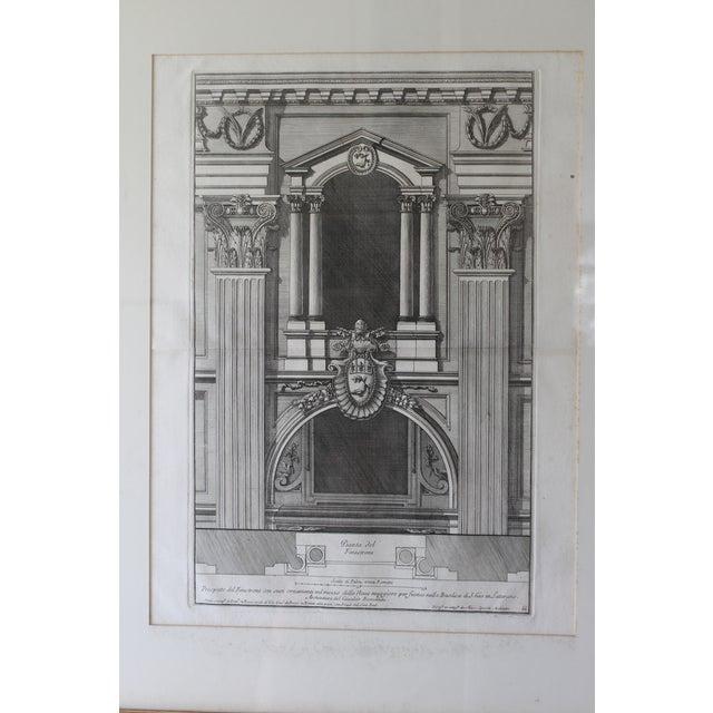 Italian Early 19th Century Antique Prospetto Del Finestreno Architectural Print For Sale - Image 3 of 12