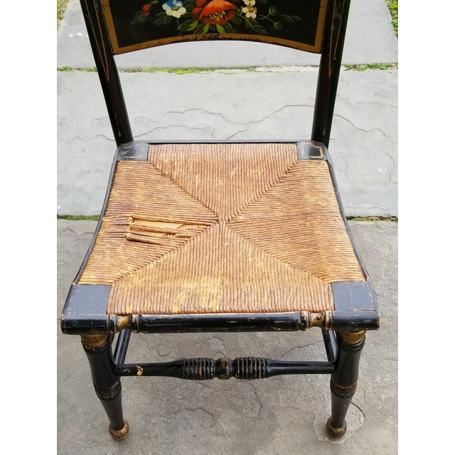 Antique Looking Chairs: Antique Early American Hitchcock Style Stenciled Wood And