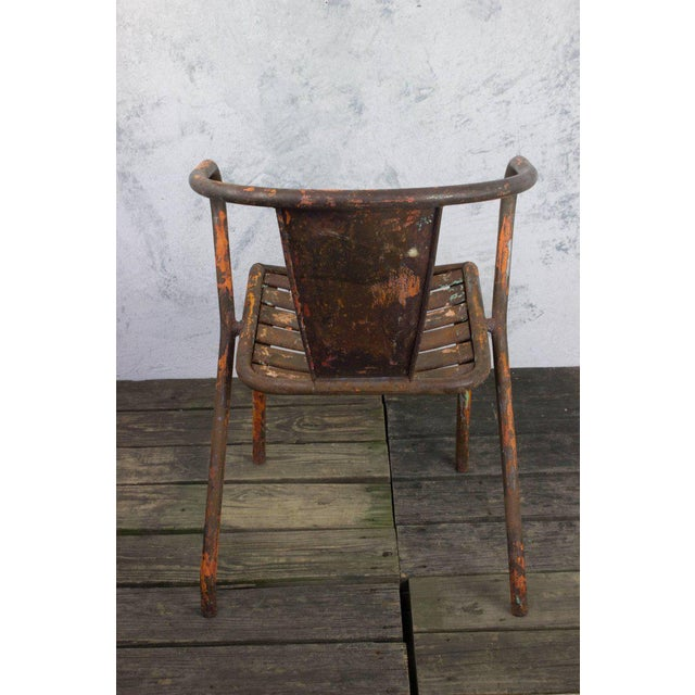 Pair of French Tolix Chairs With Original Paint Finish - Image 8 of 11