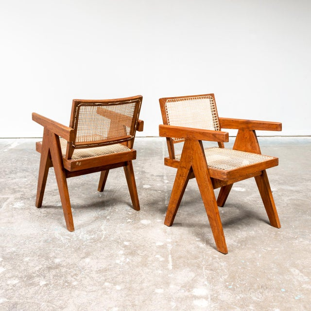 1950s Office Armchair by Pierre Jeanneret, India, 1950s For Sale - Image 5 of 9