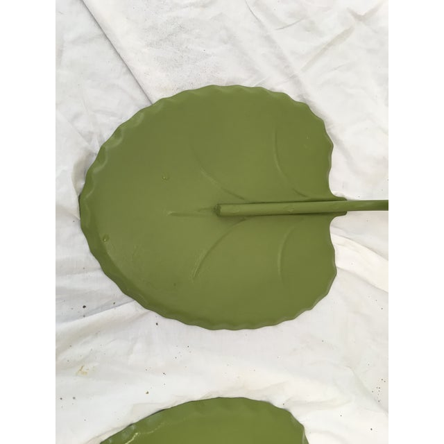 Salterini Green Lily Pad Tables, S/2 - Image 7 of 10