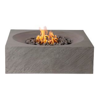 PyroMania Paloma Fire Pit Table - Slate Color, Natural Gas For Sale
