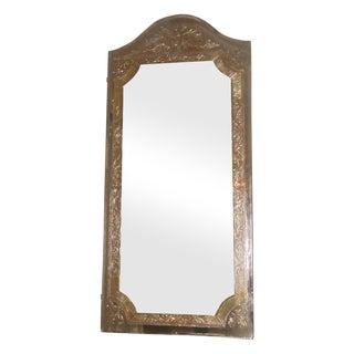 Vintage 20th Century Beveled Foil Mirror