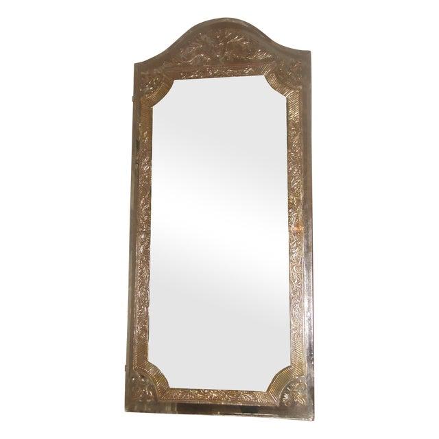 Vintage 20th Century Beveled Foil Mirror For Sale