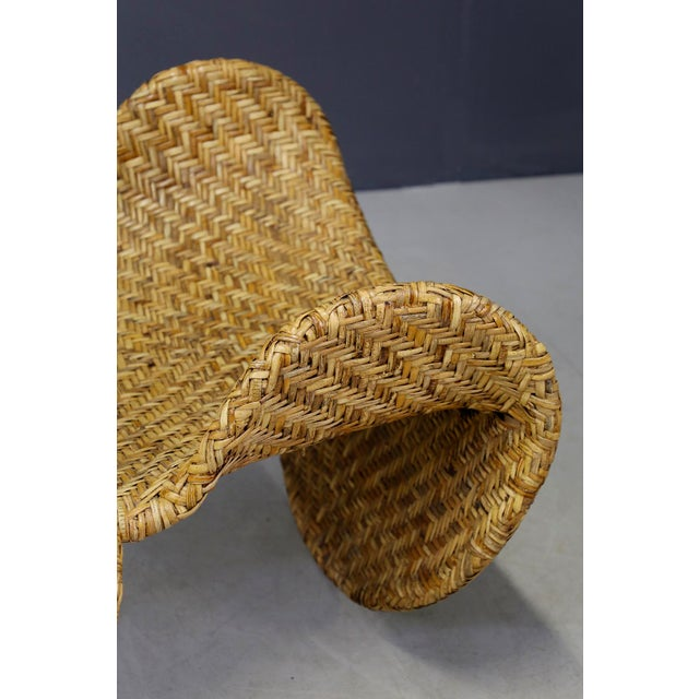 Beige Italian Mid-Century Armchairs in Beige Colored Rattan, 1950s For Sale - Image 8 of 12