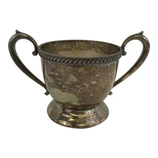 Vintage Silver Sugar Bowl or Trophy Cup For Sale