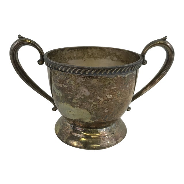 Vintage Silver Sugar Bowl or Trophy Cup For Sale