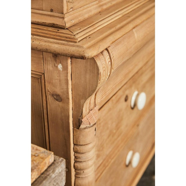 Pine Cabinet W/Blue Interior For Sale In Los Angeles - Image 6 of 10