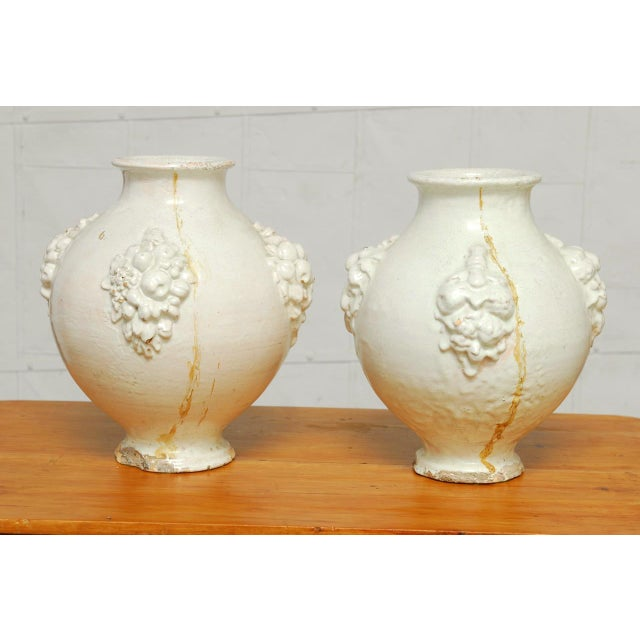Italian Earthenware Pottery Jars - A Pair - Image 8 of 11