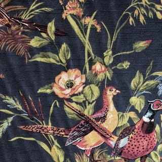 Thibault Birds Fabric $ 15 Per Yard Black and Floral