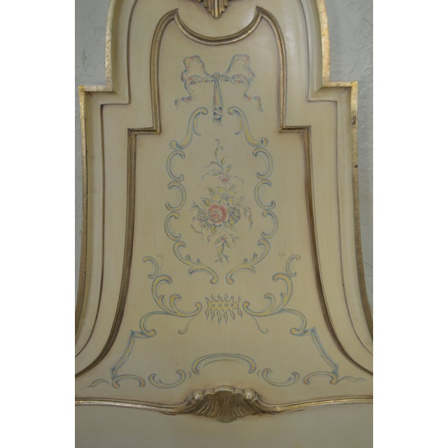 Karges Vintage Hand Paint Decorated King Size Headboard For Sale - Image 10 of 12