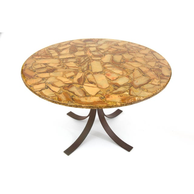 Agate and Bronze Dining Table For Sale - Image 4 of 5