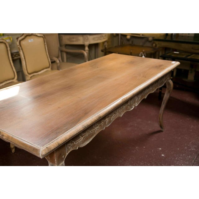 French French Provincial Style Distressed Dining Table For Sale - Image 3 of 8