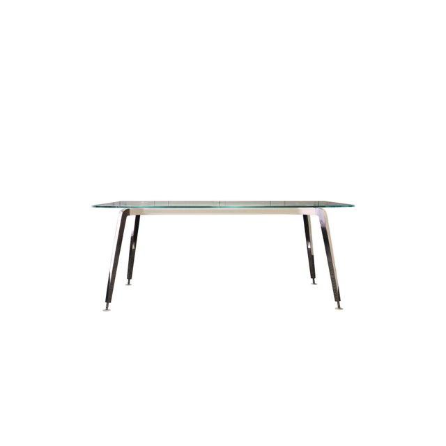Daniel Korb Contemporary Glass and Aluminum Writing Desk For Sale - Image 4 of 4