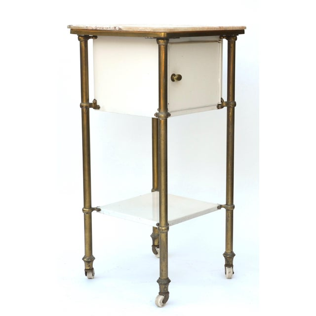 19th Century Antique Medical Cabinet Rolling Cart For Sale - Image 5 of 10