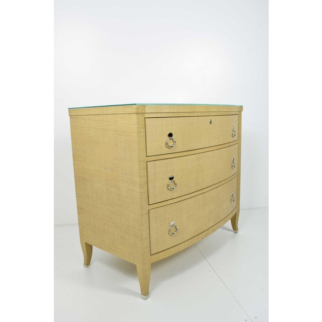 Tan Thomasville Grasscloth Chest of Drawers For Sale - Image 8 of 8