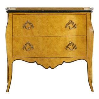Two Drawer Hand Painted Bombay Chest of Drawers by Baker Furniture For Sale