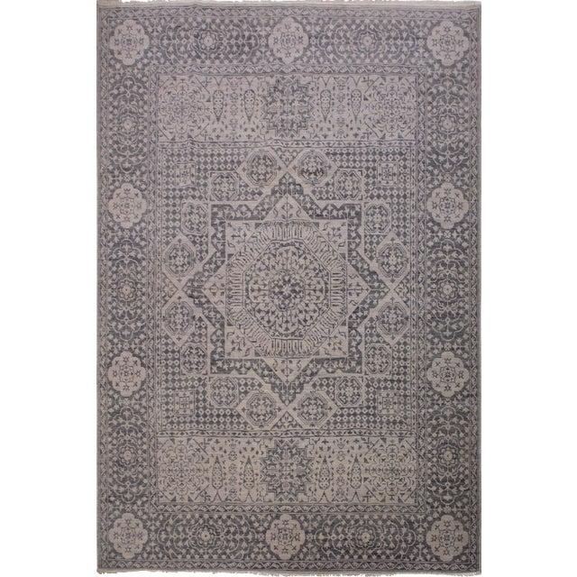 Mamluk Oushak Charmain Wool Rug - 9′1″ × 12′4″ For Sale