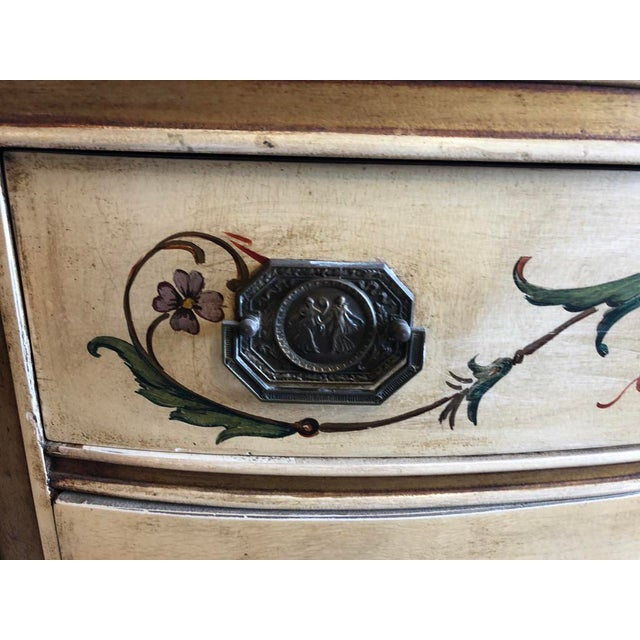 Goldenrod 18th Century Style Demilune Cabinet For Sale - Image 8 of 12