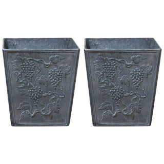 20th Century Victorian Lead Jardinieres Planters - a Pair For Sale
