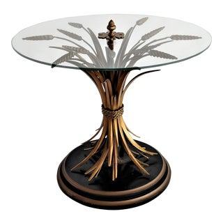 1950s Hollywood Regency Wheat Sheaf Side Table