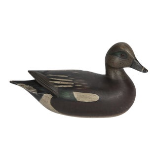 Pair of Carved and Painted Wood Duck Decoys For Sale