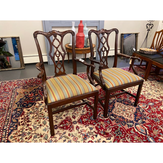 20th Century Henkel Harris Armchairs - a Pair For Sale - Image 10 of 10