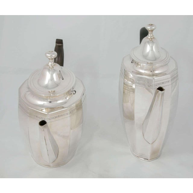 Traditional Coffee and Tea Pot Set For Sale - Image 3 of 7