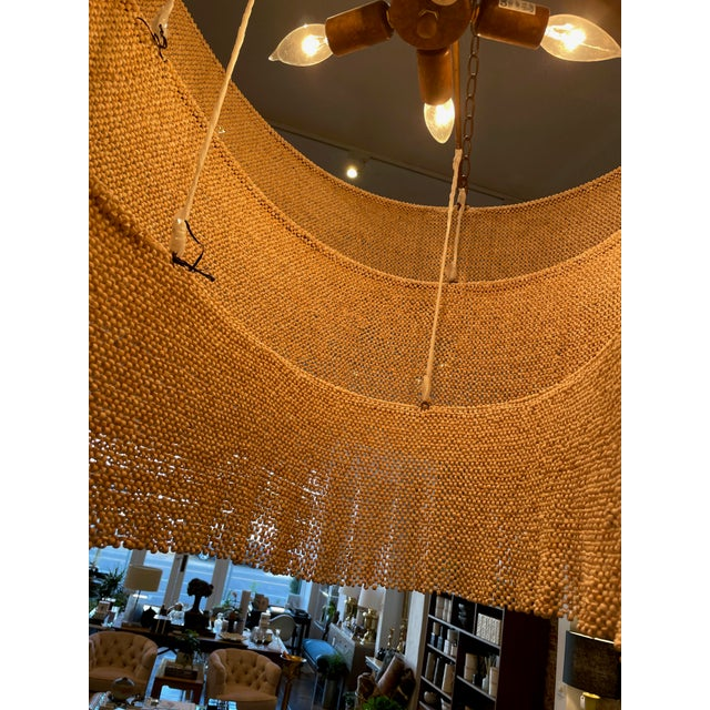 Three Tier Woven Bead Chandelier For Sale - Image 4 of 9