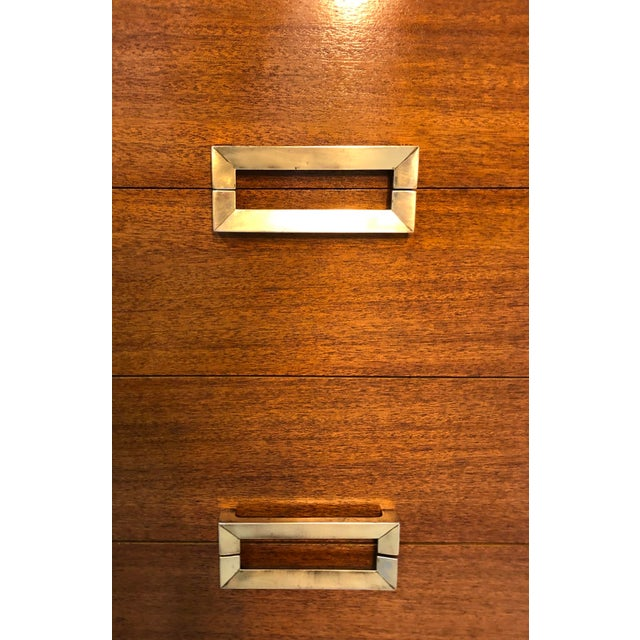 Mahogany Mid Century Modern 8-Drawer Mahogany Dresser by Red Lion For Sale - Image 7 of 13