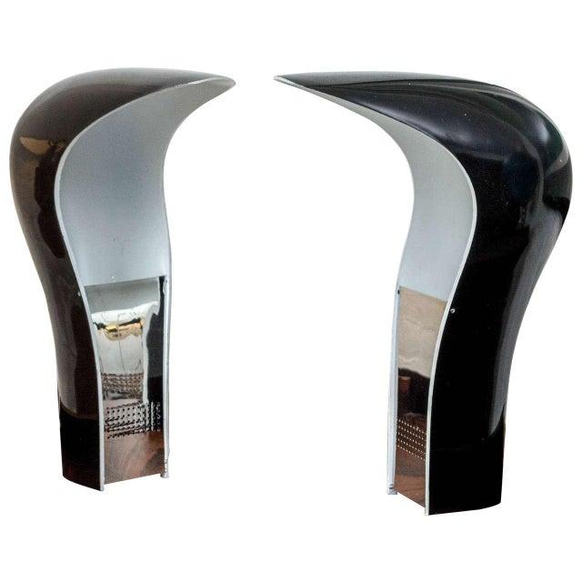 Black Cesare Casati & C. Emanuele Ponzio Pelota Table Lamps - A Pair For Sale - Image 8 of 8