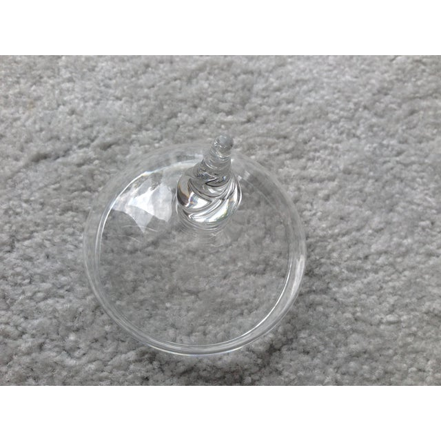 Transparent Handmade Crystal Glass Dish For Sale - Image 8 of 9
