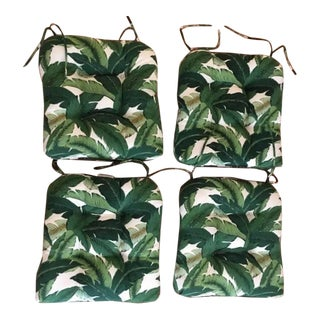 Tommy Bahama Fabric Swaying Palms Seat Cushions - Set of 4 For Sale