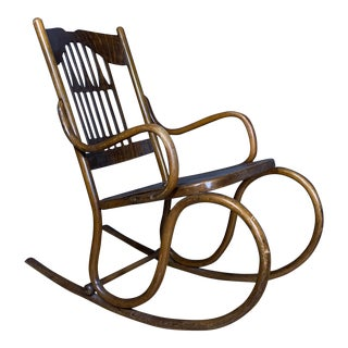 1902 Jacob & Josef Kohn No. 816 Bentwood Rocking Chair For Sale