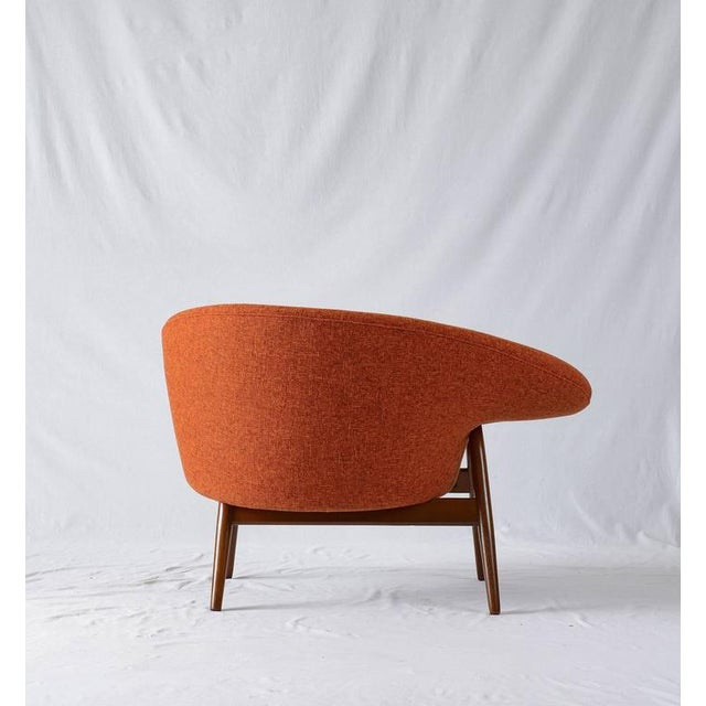"Wood Hans Olsen ""Fried Egg"" Lounge Chair For Sale - Image 7 of 8"