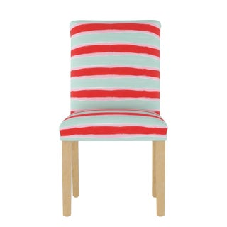Dining Chair in Brush Stripe Mint Oga For Sale