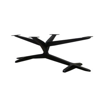Invictus Steelworks Metal Pedestal Table Base For Sale