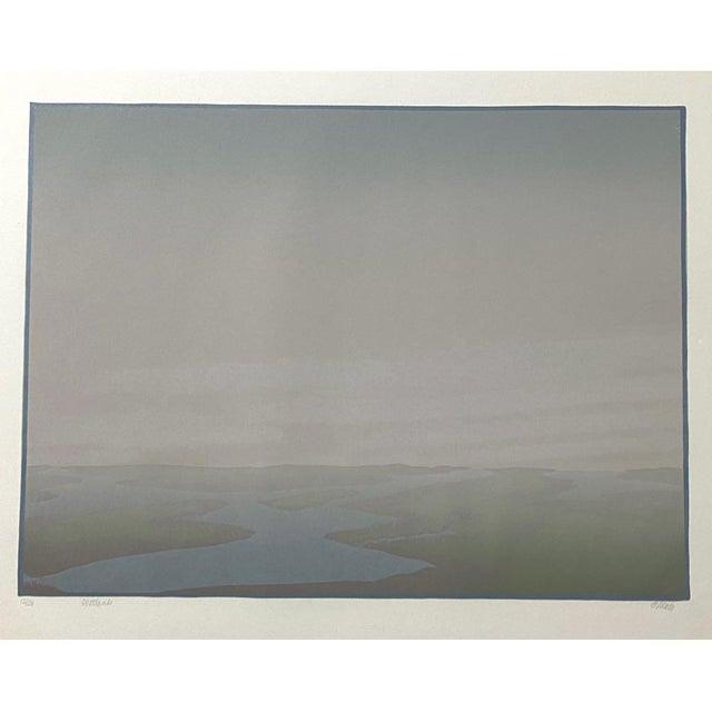 "1986 ""Wetlands"" Minimalist Linocut Print by Teri Malo For Sale In Philadelphia - Image 6 of 6"