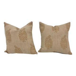 """Lee Jofa Woven 18"""" Pillows - a Pair For Sale"""