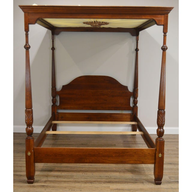 High Quality American Made Solid Cherry Wood Poster Bed with Removable Canopy Top